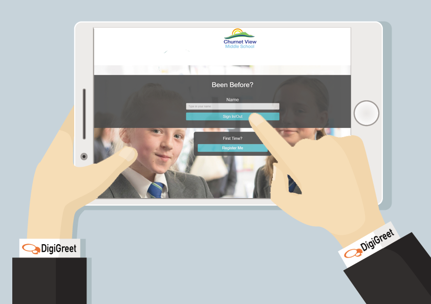 Churnet View Middle School using DigiGreet